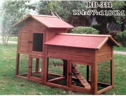 6ft Outdoor Hutch and Run Palace